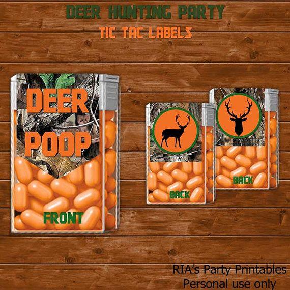Deer Hunter Tic Tac Labels by RIAsPartyPrintables, $5.00