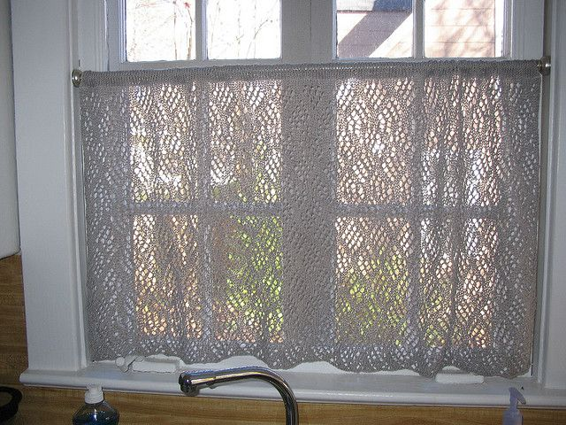 Dappled Lace Caf 233 Curtain Pattern By Knit Picks Design