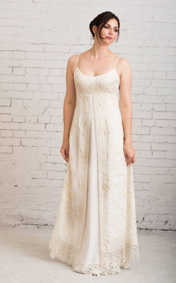 Merveilleux Martin McCrea Couture Bohemian, Vintage Inspired, Simple, Casual, Handmade Wedding  Dress