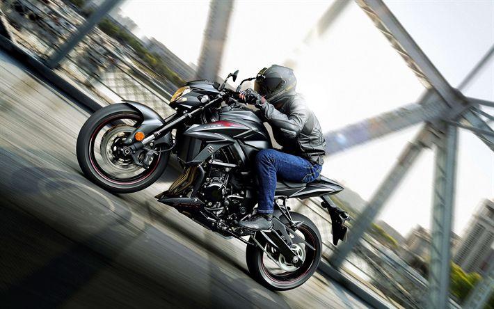 Télécharger fonds d'écran Suzuki GSX-S750, coureur, 2018 vélos, superbikes, route, Suzuki