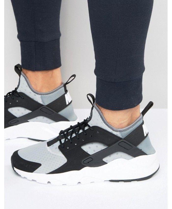 Nike Air Huarache Mens Run Ultra Black Grey NIKE183 | Sneakers men ...