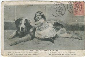 Unknown Postcard, Lili et son chien (1905)