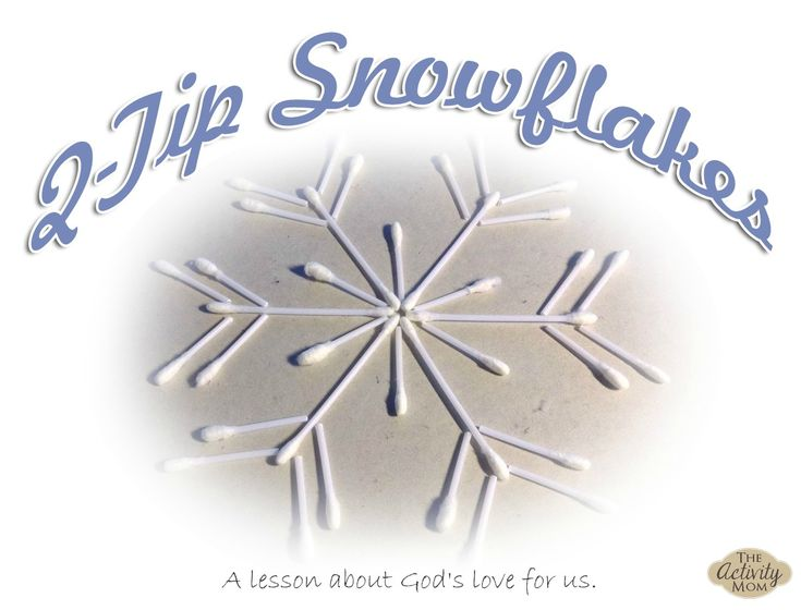 We all have Q-tips on hand. They can be cut and arranged to make beautiful snowflakes and they provide a great lesson about how God makes everyone d
