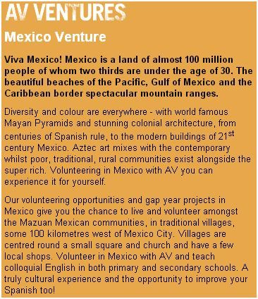 http://www.aventure.co.uk/Gap-Ventures-Teaching-Mexico-Facts.html ...In general, Mexico is relatively safe, although in urban areas you should use the same precautions you would in any unfamiliar city: Don't wear expensive jewelry or flash a full wallet around, and only take cabs that hotels or tourist-friendly restaurants order for you. In Mexico City, be especially careful that your taxi is a properly licensed one before you get in; in Cancún, avoid using ATM machines late at night