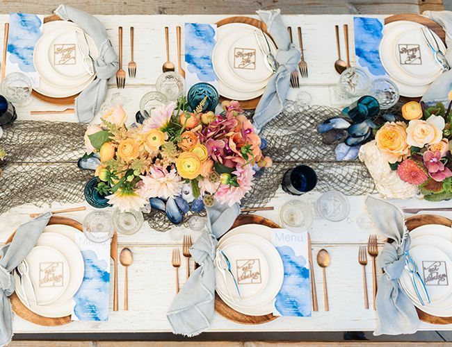 A Colorful Spring Clambake Party (With images) | Clam bake party ...