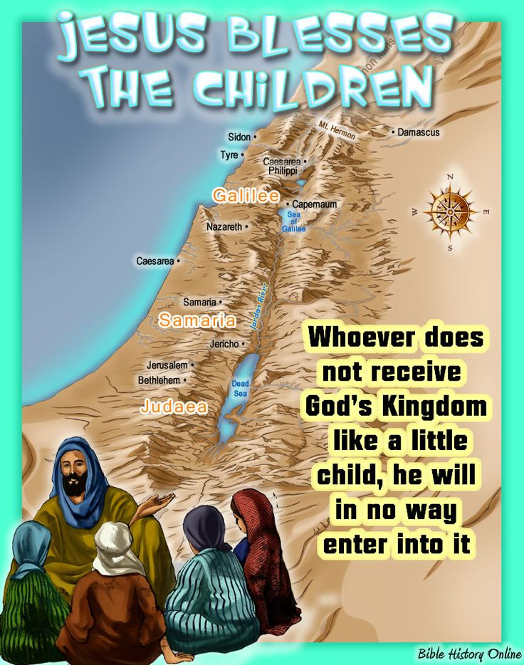 Map of Israel when Jesus Blessed the Little Children ...