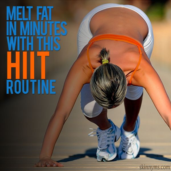 Melt Fat in Minutes with this HIIT Routine #fatburning
