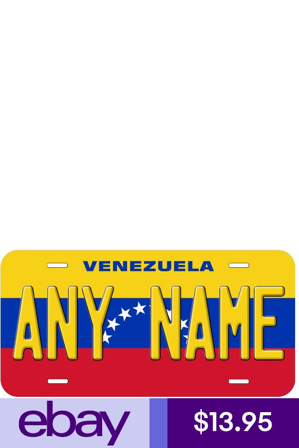 Venezuela Flag Personalized Any Text Novelty Car License Plate