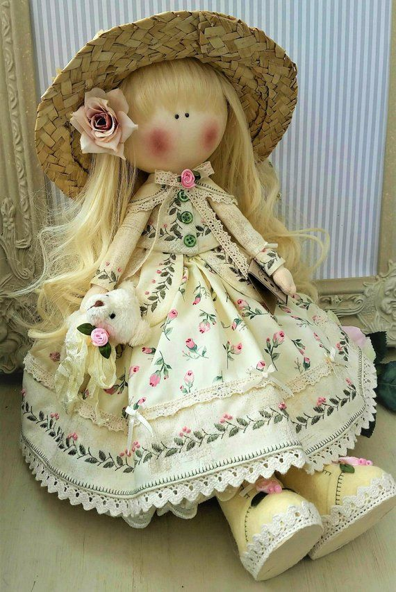 Cloth doll Handmade doll Fabric doll Tilda doll Rag doll Art
