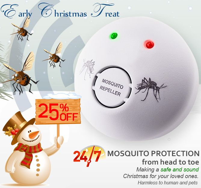 Early Christmas Treat by Gain Express @ 25% off for this Ultrasonic Mosquito Repellent.   #mosquitorepellent #sale #discount #Christmas