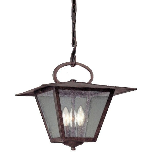 Troy Lighting F2956 Potter 3 Light Outdoor Pendant In Fired Iron
