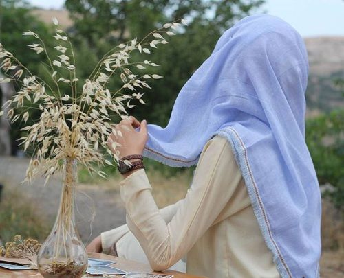 รูปภาพ hijab, muslim, and purple