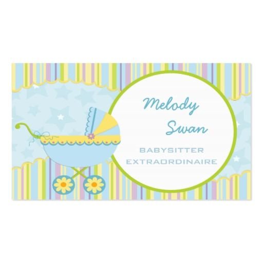 147 best Babysitting Business Cards images on Pinterest Business