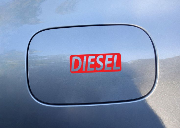Diesel Fuel Only Vinyl Sticker / Decal Die Cut Red Color for Car Fuel Cap Cover by Osarix