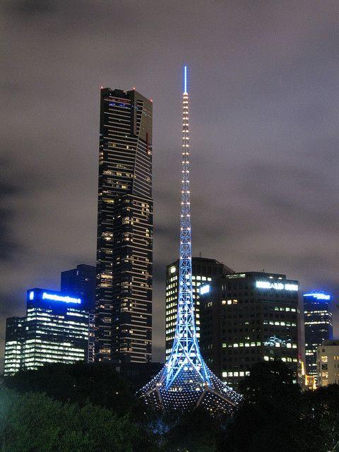 Melbourne Skyline from Queen Victoria Gardens