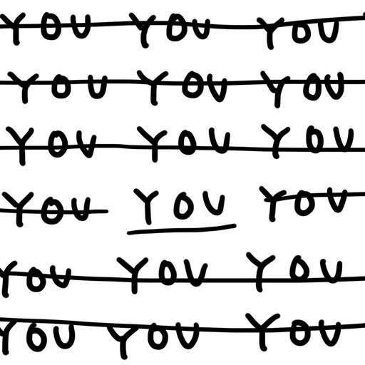 Only one YOU by Shantell Martin