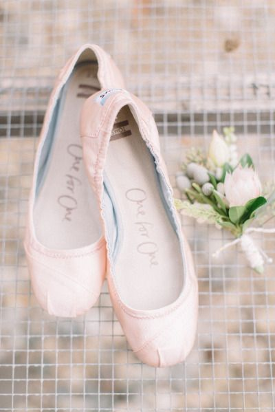blush wedding flats shoes