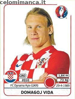 UEFA EURO 2016™ Official Sticker Album: Fronte Figurina n. 440 Domagoj Vida