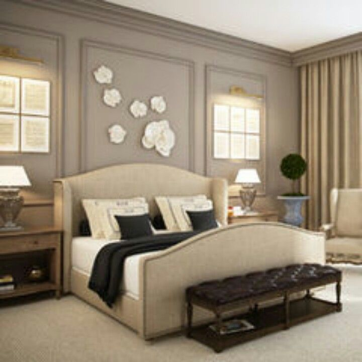 20 Monochromatic Bedroom Color Scheme Ideas: Eclectic Bedroom , Master Bedroom