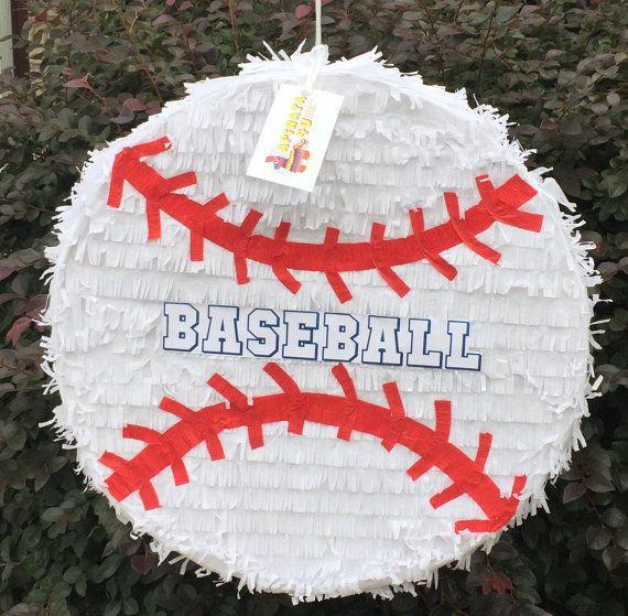 2-D personalizado primero cumpleaños béisbol por Theperfectpinata