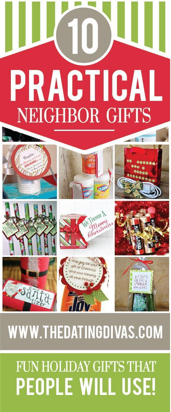Practical Christmas Neighbor Gifts- fun gift ideas that people will actually USE over the holiday season.