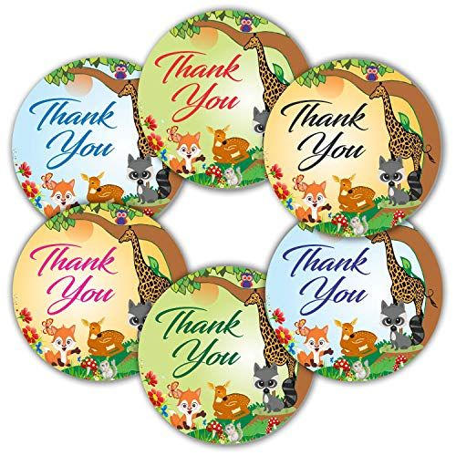 Woodland Animals Thank You Stickers Pack Of 120 2 La Https Www Amazon Com Dp B083zgdhs Thank You Stickers Gift Envelope Baby Shower Party Decorations