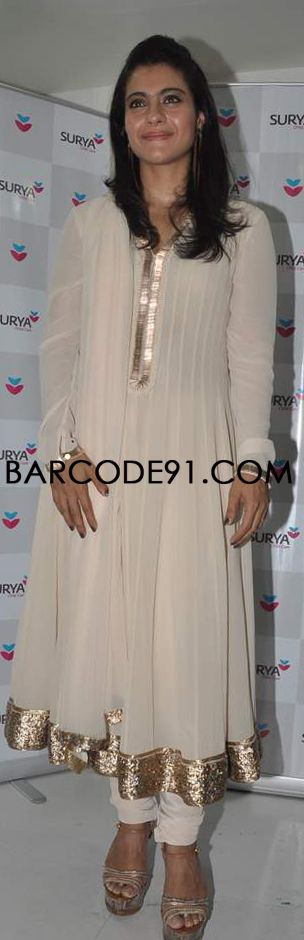 http://www.barcode91.com/ Kajol Devgn in Rohit Gandhi & Rahul outfit at the inauguration of Surya Child Care's Neonatal intensive care unit