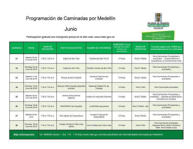 ¿Tienes algún plan para estas vacaciones? El INDER te invita a participar de sus caminadas por Medellín. inscríbete en: www.inder.gov.co