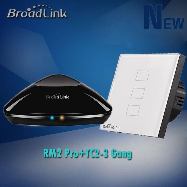 64.80$  Buy now - http://alip8x.shopchina.info/1/go.php?t=32597610685 - Broadlink Rm2 Rm Pro Wifi+RF+IR Universal Intelligent Remote Controller+TC2 3 Gang Wall Light RF Touch Wifi Switch,Smart Home  #magazine