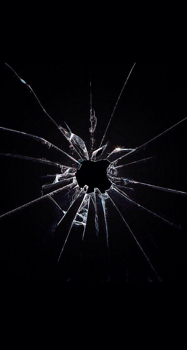 Cracked screen wallpaper
