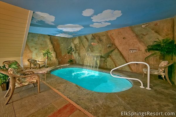 Enjoy your own private indoor pool in a luxury 1 bedroom cabin in Gatlinburg - Sleeps 4 - Book Now