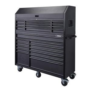 Husky 56 in. 23-Drawer Tool Chest and Rolling Cabinet Set, Textured Black Matte HOTC5623BB1S at The Home Depot - Mobile