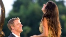 """""""The Bachelor,"""" Sean Lowe, got engaged on the show's finale Monday night to graphic designer Catherine Giudici.    Lowe dropped to one knee and proposed with a cushion-cut Neil Lane diamond engagement ring in Thailand.    On the show's """"After the Final Rose,"""" the newly engaged couple revealed that they will be televising their wedding on ABC."""