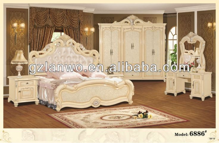 Cheap european style home furniture fancy bedroom set with king size bed for sale item 6889 for Cheap king bedroom sets for sale