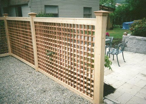 Square Lattice Fencing For The Garden Pinterest
