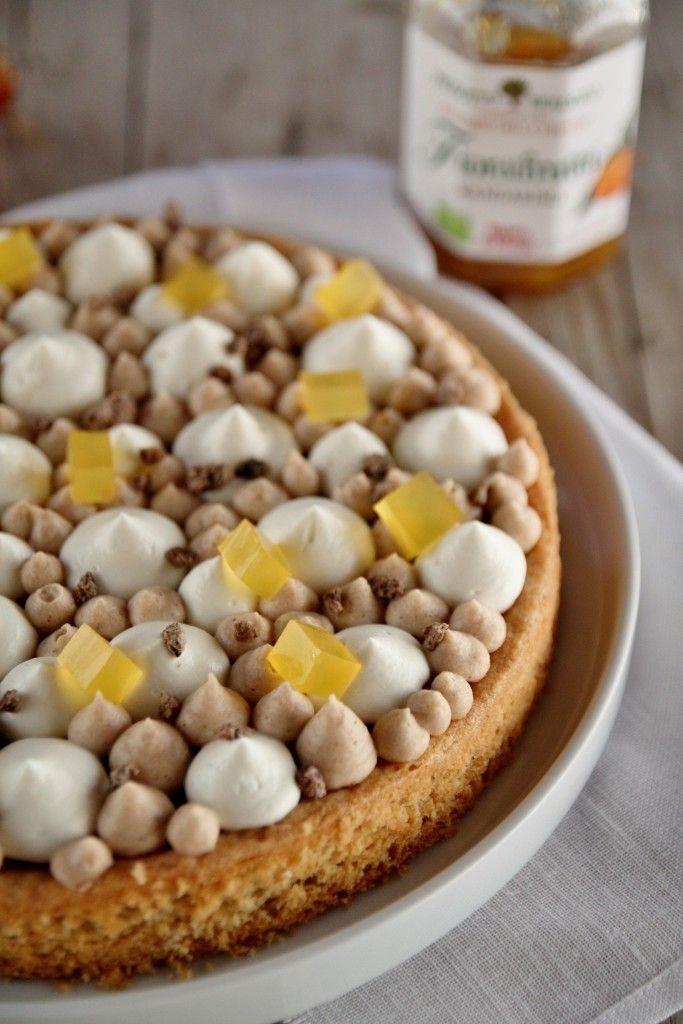 Tarte al mandarino, mousse di marroni e crema di ricotta