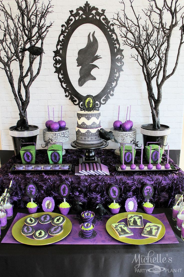 Amazing Maleficent Inspired Dessert Table: great for a birthday party or a Halloween party! Description from pinterest.com. I searched for this on bing.com/images