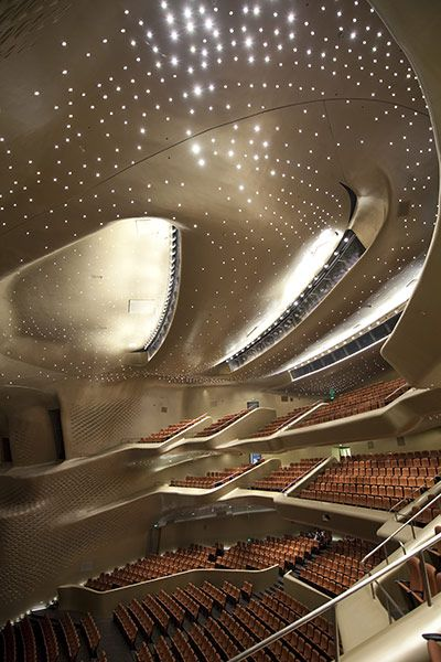 Guangzhou Opera House by Zaha Hadid - Take the curves, expand into the background