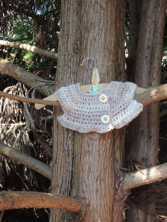 Newborn Cardigan Crochet Top Newborn Shrug Baby by amezarcreations
