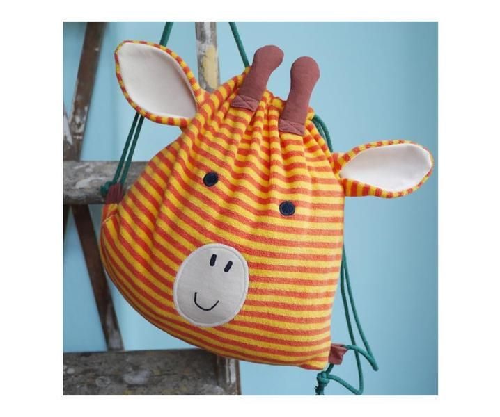 Turnbeutel aus Bio Stoffen, Giraffe, Kindergarten Rucksack / kindergarden backpack for children, giraffe tote bag, organic kidswear made by Tell Me via DaWanda.com