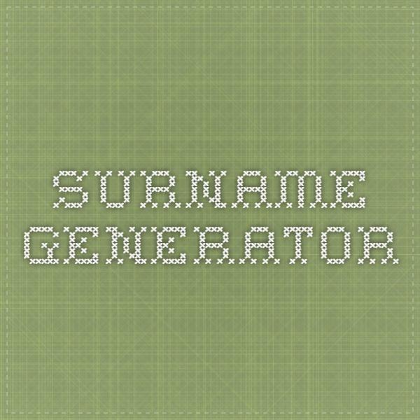 surname generator