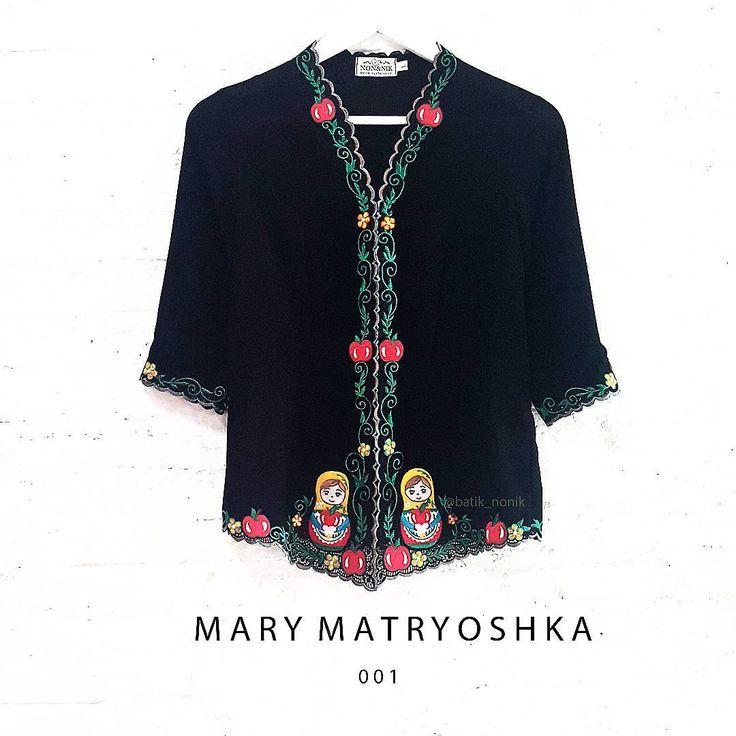 New design for our handmade kebaya,  Our lovely Mary Matryoshka!  Now available for orders, ready stock (whilst stocks last)  For more information, go to www.nonandnik.com  or contact us via Whatsapp at +6289 741 33422  #handmade #kebaya #kebayamodern #kebayaencim #kebayabordir #kebayaperanakan #kebayanonya #kebayanyonya #sarongkebaya