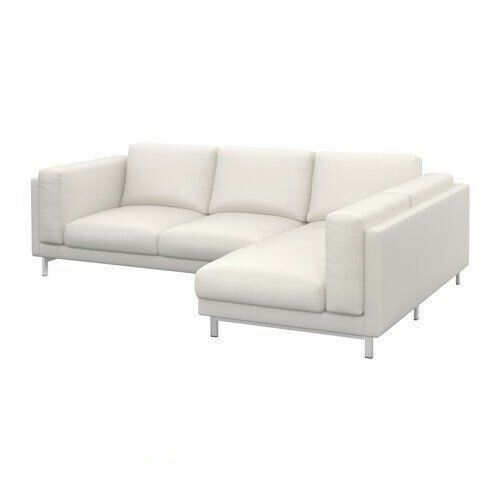 Ikea Nockeby 3 Seat Sectional Right Chaise Couch Cover Slipcover Risane White Ikea Sofa Ideas Of Ikea Sofa Sofa Chaise Longue Chaise Bank Overtrek Stoel