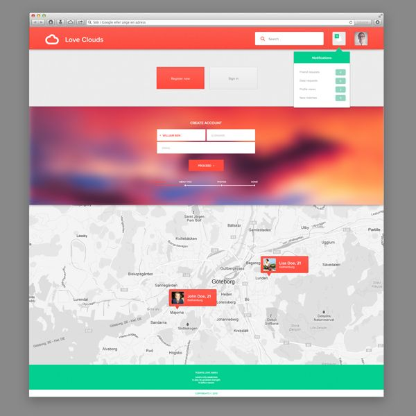 web design site tonic vivid colorful creative agency business company map
