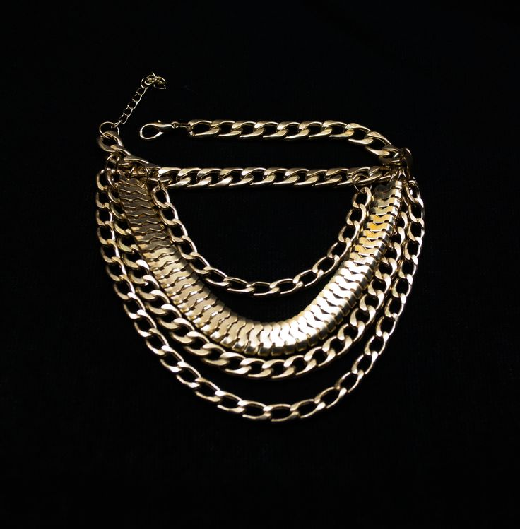 A chunky gold multilayer anklet a perfect addition to your killer heels!