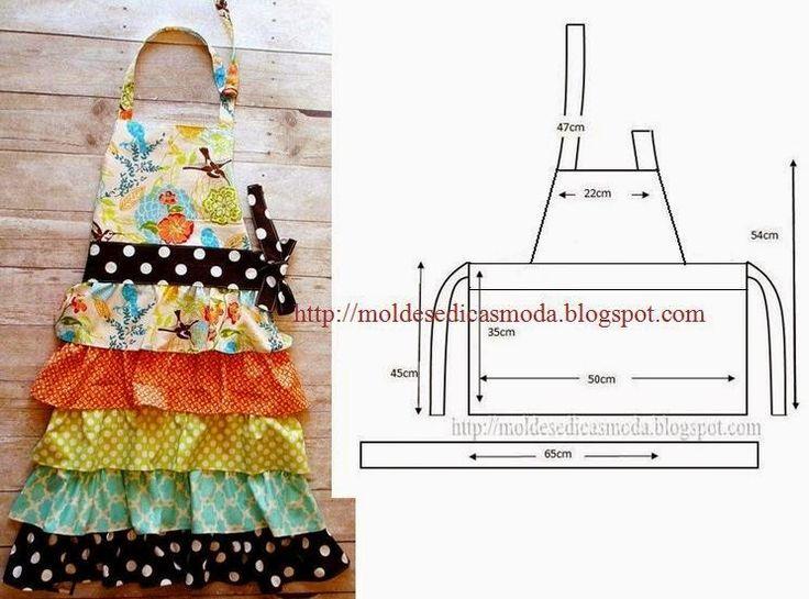 Moda e Dicas de Costura: AVENTAL DE COZINHA PARA CRIANÇA.