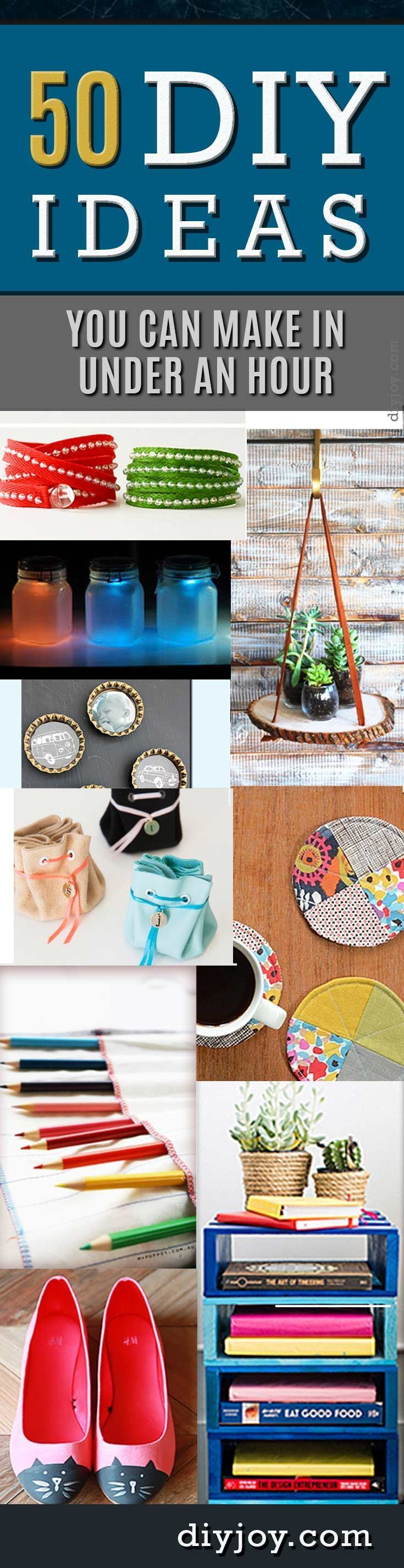 Quick DIY Projects and Easy, Fast Crafts Ideas You Can Make in Under an Hour - Fast DIY Gifts, Home Decor and Fashion