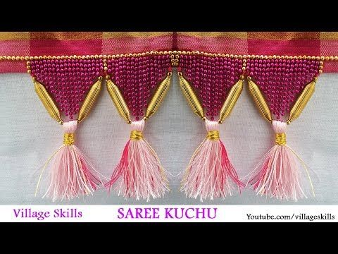 How to make saree kuchu l DIY silk thread saree tassels jewellery model  l saree…