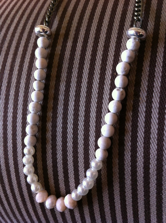 Long monocromatic necklace by SapphiresandSilver on Etsy, $19.99