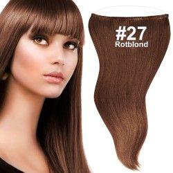flip in extensions,rot,rotblond,#27,50cm,haarverlängerung selber machen